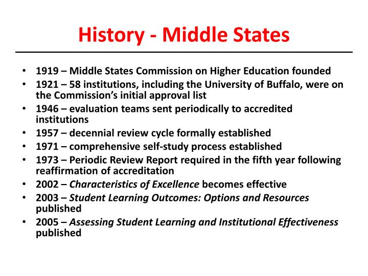 History - Middle States