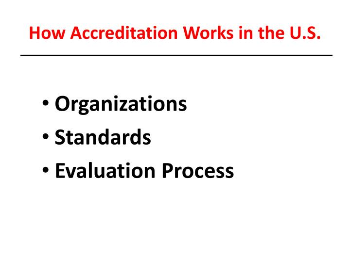 How Accreditation Works in the U.S.