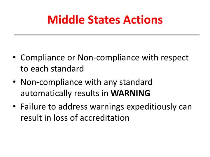Middle States Actions