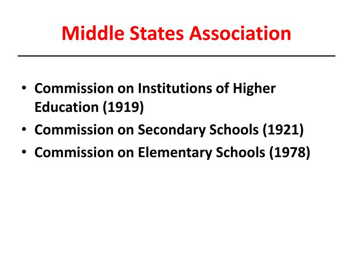 Middle States Association