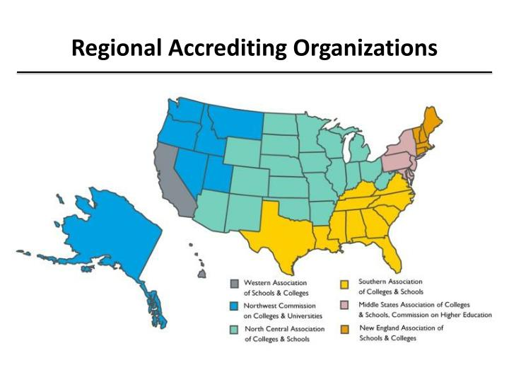 Regional Accrediting Organizations