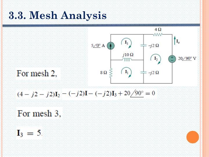 3.3. Mesh Analysis