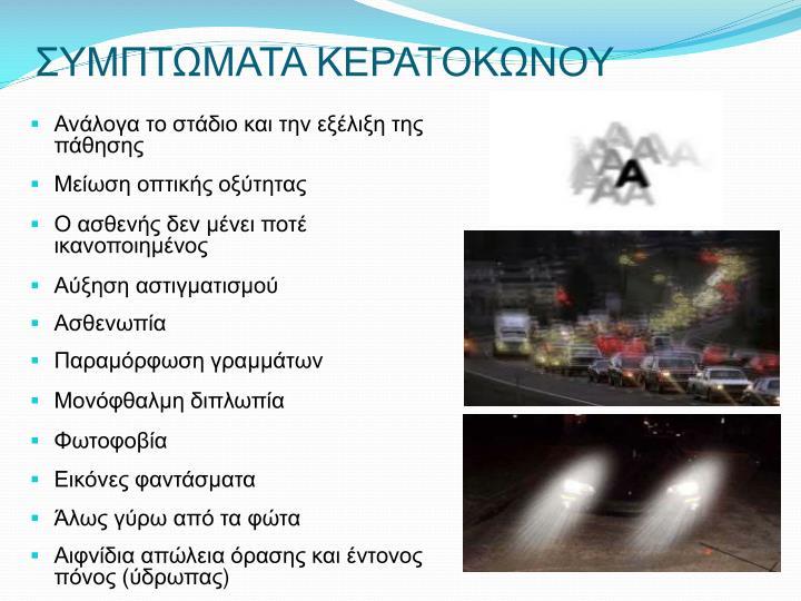 ΣΥΜΠΤΩΜΑΤΑ ΚΕΡΑΤΟΚΩΝΟΥ