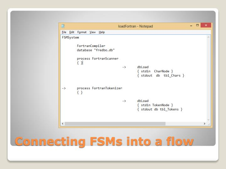 Connecting FSMs into a flow