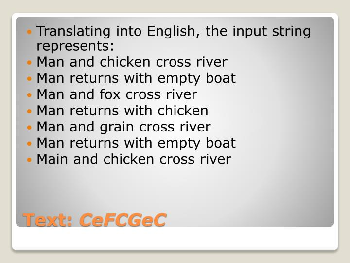 Translating into English, the input string represents: