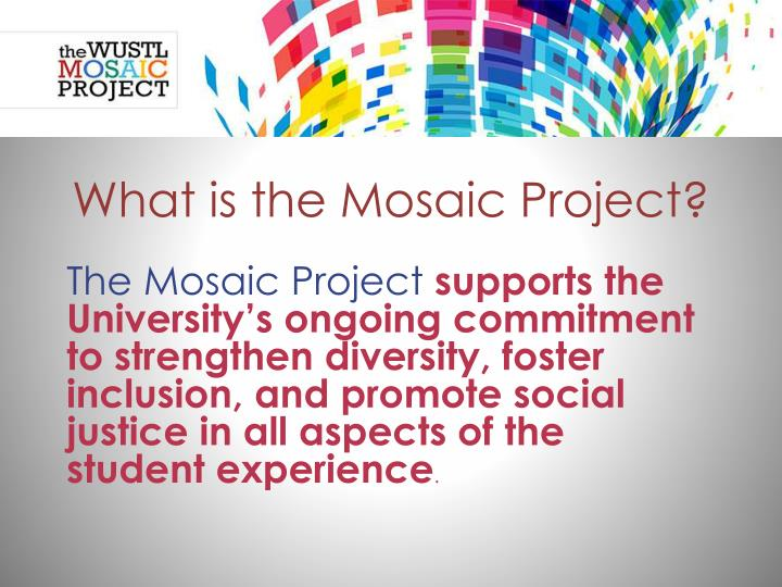 What is the mosaic project1