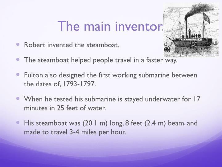 The main inventor.