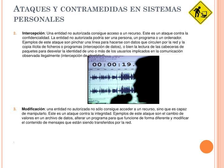 Ataques y contramedidas en sistemas personales