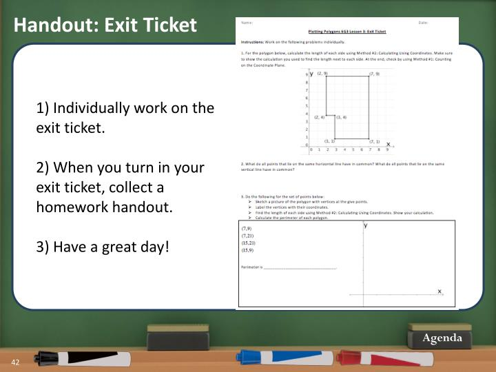 Handout: Exit Ticket