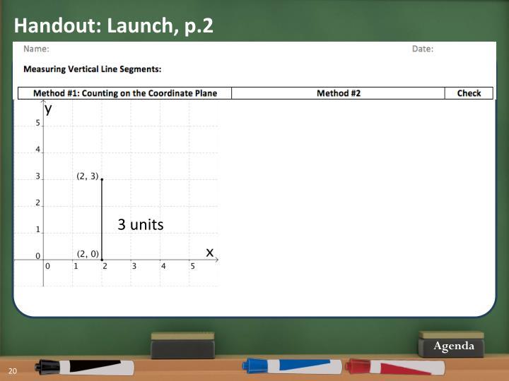 Handout: Launch, p.2