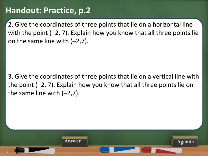 Handout: Practice, p.2
