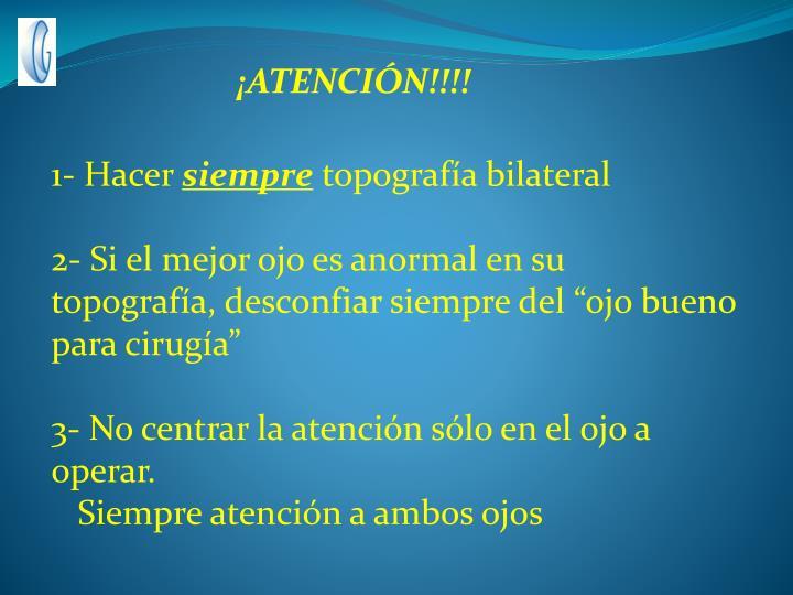 ¡ATENCIÓN!!!!