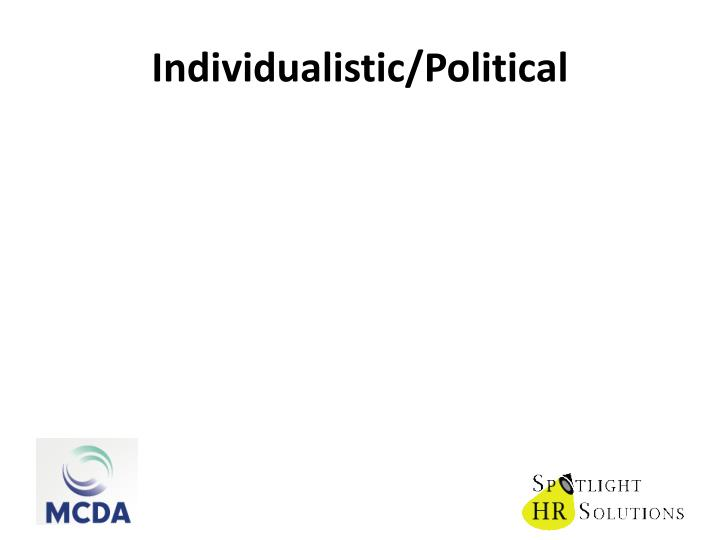 Individualistic/Political