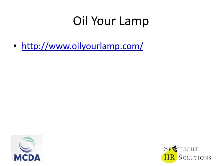 Oil Your Lamp