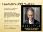 3 continental drift reactions