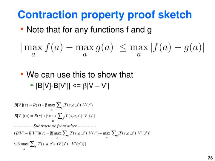 Contraction property proof sketch