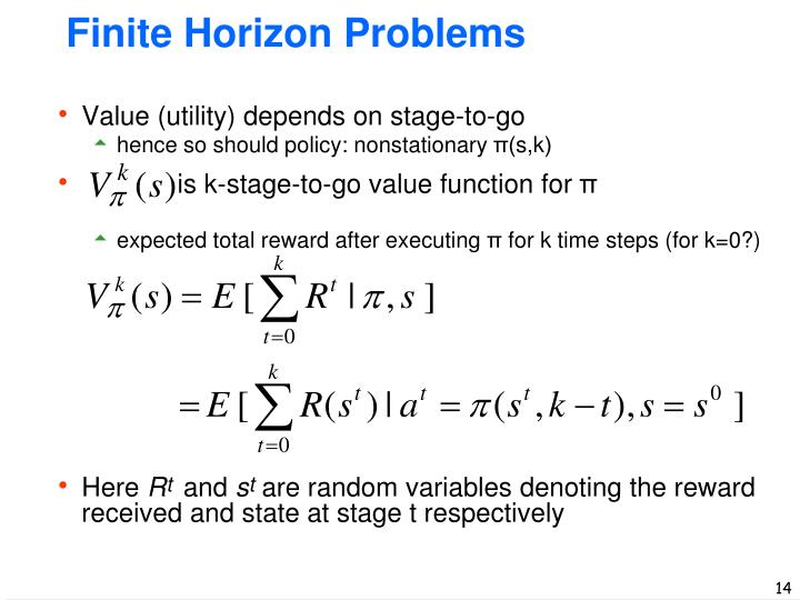 Finite Horizon Problems