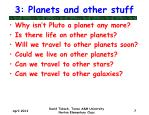 3 planets and other stuff