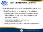 55041 repeatable courses