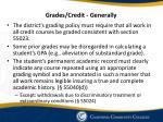 grades credit generally