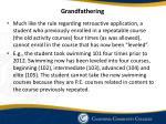 grandfathering
