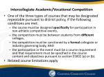 intercollegiate academic vocational competition