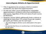intercollegiate athletics apportionment
