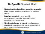 no specific student limit