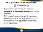 occupational work experience 55040 b 6