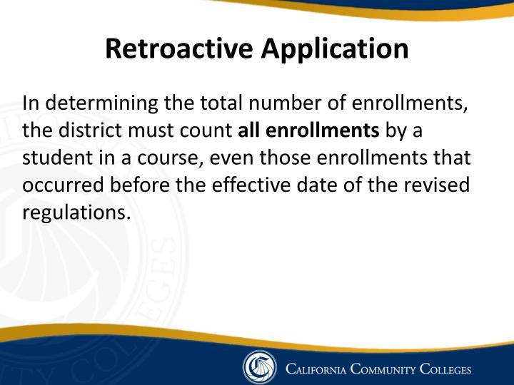 Retroactive Application