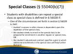 special classes 55040 b 7