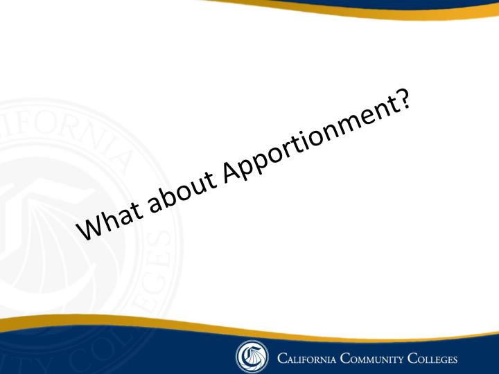 What about Apportionment?