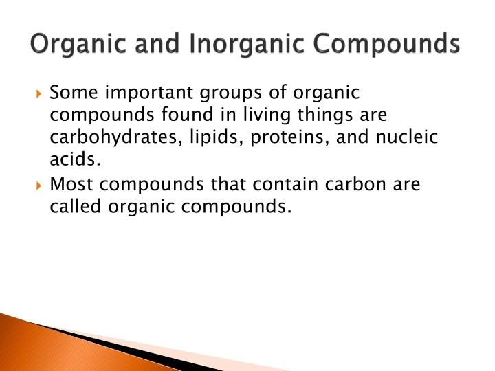 Organic and Inorganic Compounds
