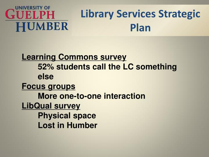 Library Services Strategic Plan