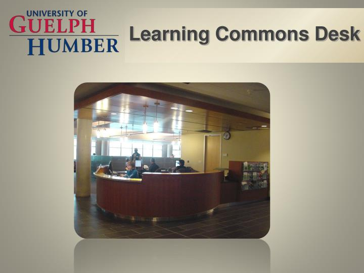 Learning Commons Desk