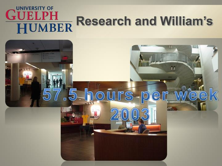 Research and William's