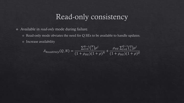 Read-only consistency