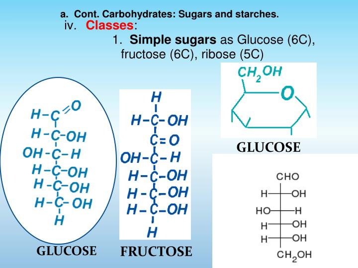 a.  Cont. Carbohydrates