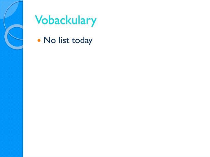 Vobackulary