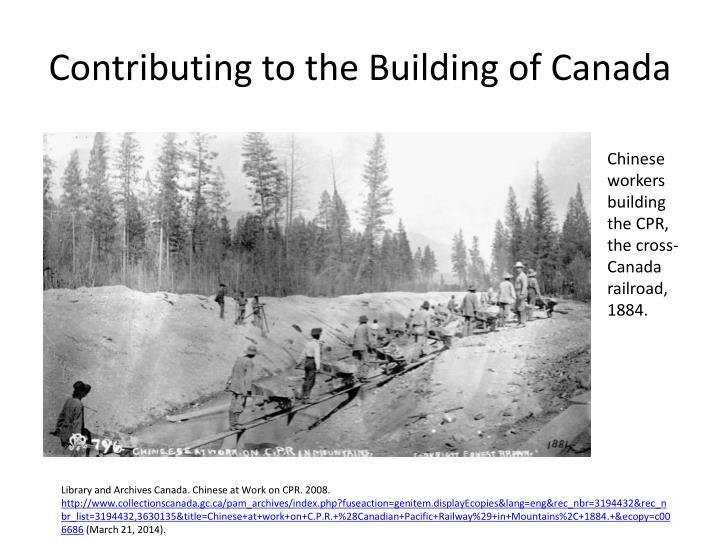 Contributing to the Building of Canada