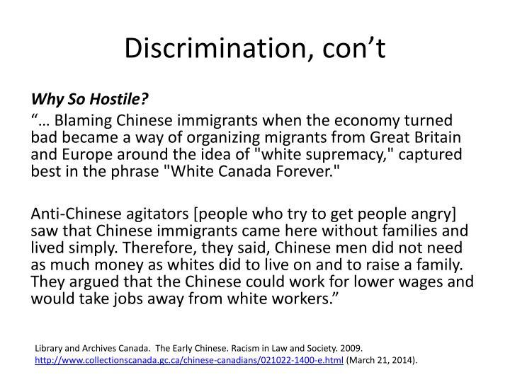 Discrimination,