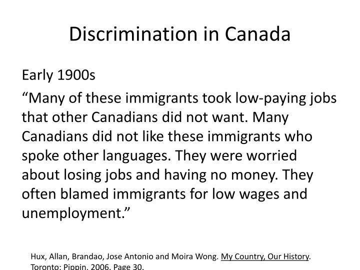 Discrimination in Canada