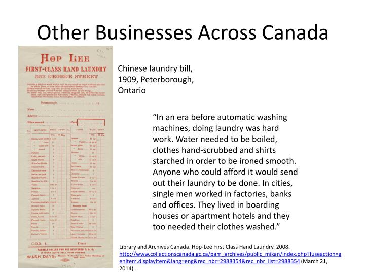 Other Businesses Across Canada