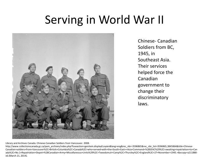 Serving in World War II