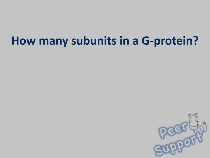How many subunits in a G-protein?
