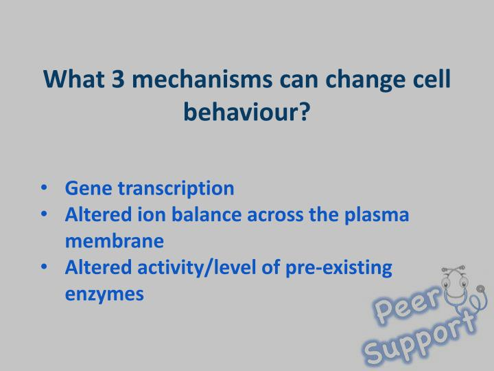 What 3 mechanisms can change cell