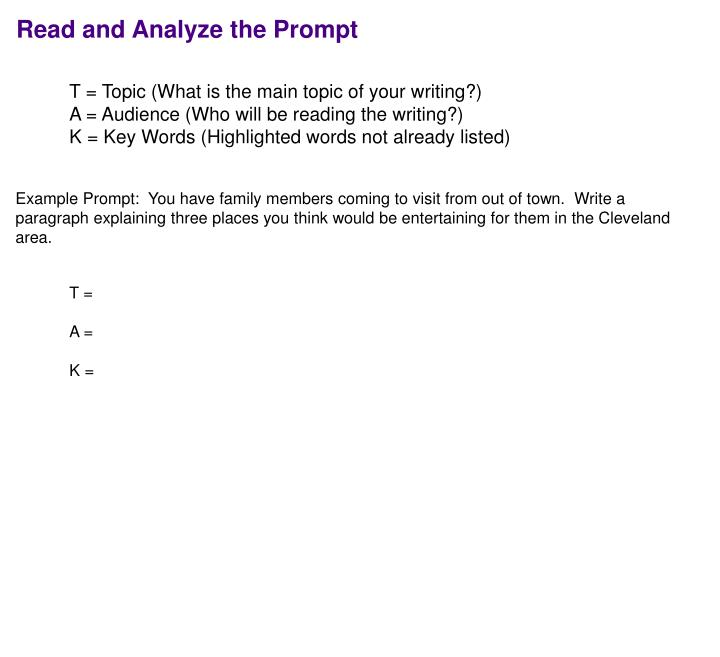 Read and Analyze the Prompt