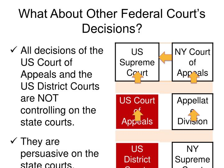 What About Other Federal Court's Decisions?