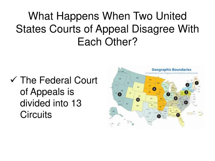 What Happens When Two United States Courts of Appeal Disagree With Each Other?