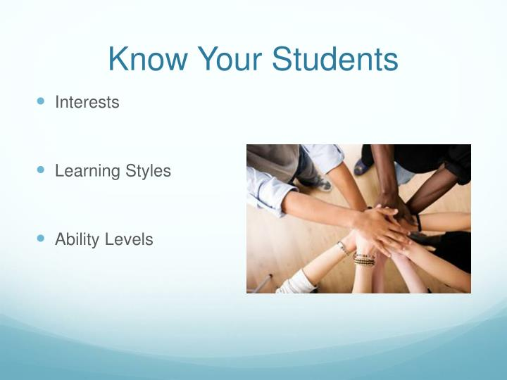 Know Your Students